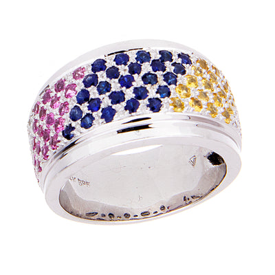 Multi-Colored Sapphire & Diamond Ring - Jewelry Store in St. Thomas | Beverly's Jewelry