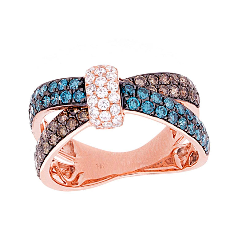 Multi Color Diamond Ring