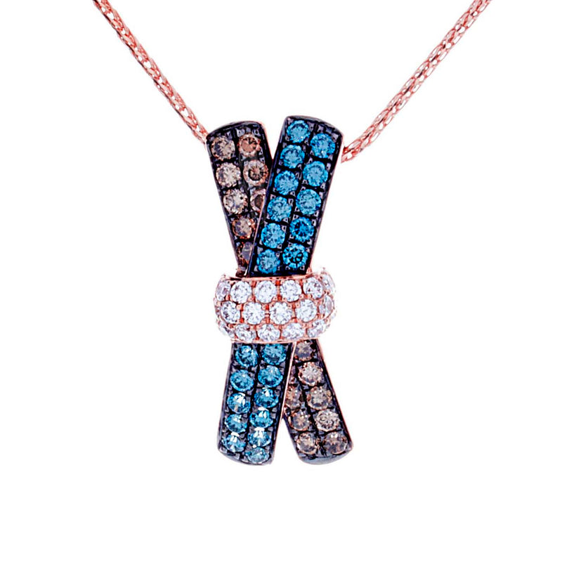 Multi Color Diamond Pendant - SKP29283B