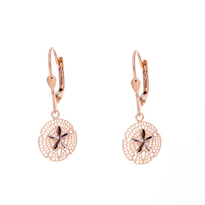 Gold Sand Dollar Earrings - Jewelry Store in St. Thomas | Beverly's Jewelry