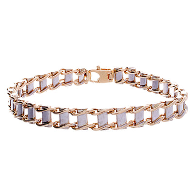 Gold Railroad Bracelet - Jewelry Store in St. Thomas | Beverly's Jewelry
