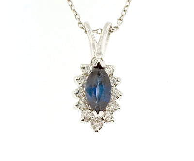 Sapphire Pendant - 416WS - Jewelry Store in St. Thomas | Beverly's Jewelry