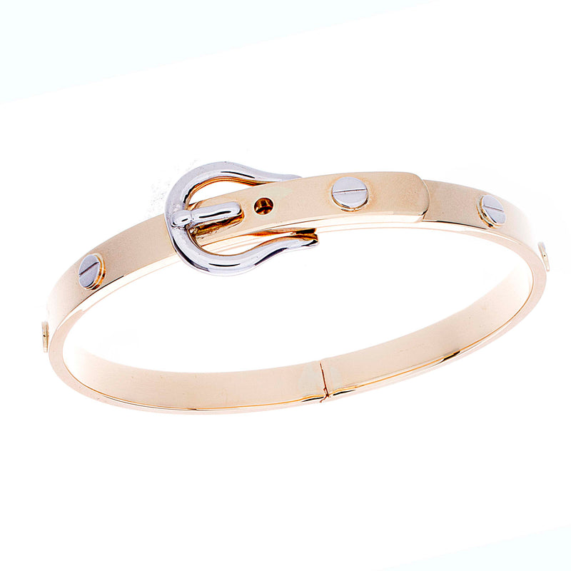 Gold Buckle Bangle