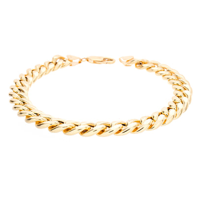 "Gold Cuban Bracelet 9"" 9mm - Jewelry Store in St. Thomas 