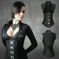 Steel Boned Gothic Corset (Waist Trimmer)