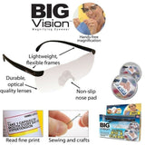 Big Vision Glasses Magnifying Eyewear See 160% More Better