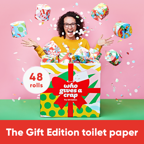 The Gift Edition Premium 100% bamboo toilet paper – 48 rolls by Who Gives a Crap