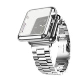 LizaTech Stainless Steel Band with Plated Slim Case for Apple Watch