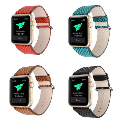 LizaTech Faux Snake Skin Replacement Band for Apple Watch
