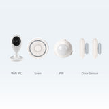 Wi-Fi Video Kit Home Alarm Security System - Works With Alexa, Google Assistant, IFTTT