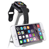 LizaTech Aluminum Alloy Dual Apple Watch Stand & iPhone Dock