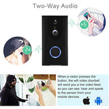 LizaTech New L500 WiFi Smart Doorbell - 720p HD Video, 10 Month Battery Life, Watch Live and Smartphone Alerts, Motion Sensor