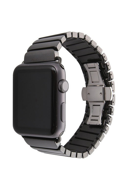 LizaTech Ceramic Link Band with Butterfly Closure for Apple Watch