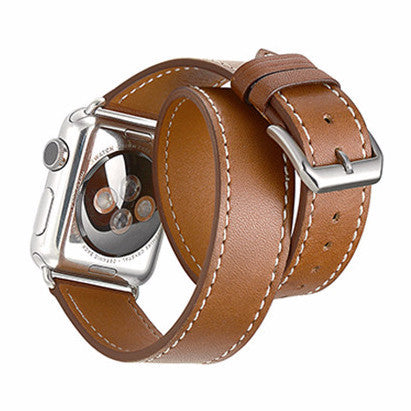 LizaTech Genuine Leather Double Wrap Replacement Watch Band