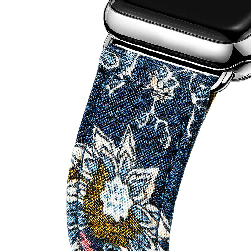 LizaTech Leather & Cloth Band with Buckle for Apple Watch