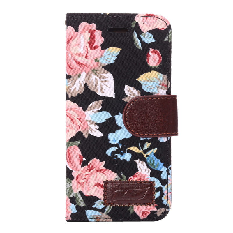 LizaTech Floral Leather Wallet Storge Case For iPhone 5/5S