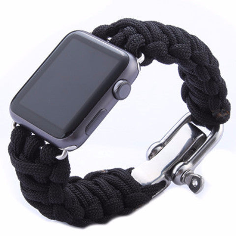 LizaTech Weave Replacement Watch Band with Stainless Steel Clasp for Apple Watch