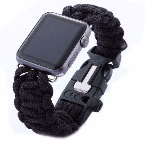 LizaTech Weave Replacement Watch Band with Whistle for Apple Watch