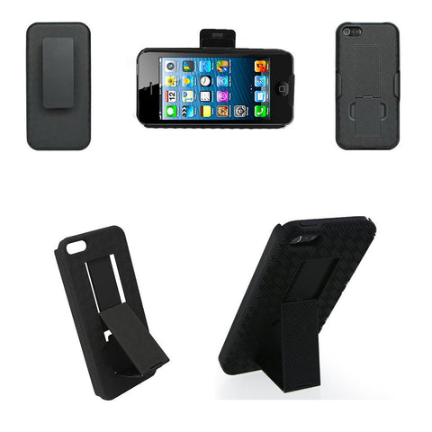 iPM iPhone 5/5S Shell Holster Combo With Kickstand and Belt Clip