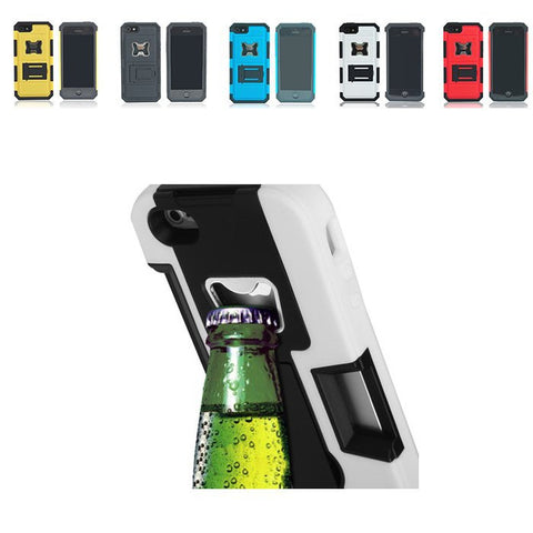 Hard Soft Combo Case With Bottle Opener For iPhone 5/5S