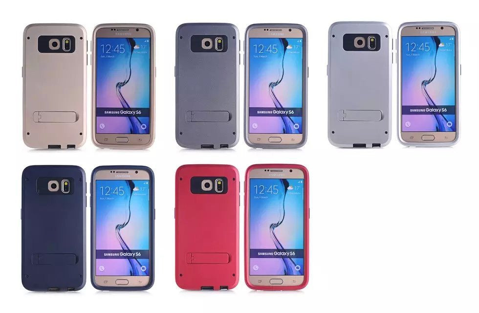 LizaTech Hybrid Protective Kickstand Case for Samsung Galaxy S6