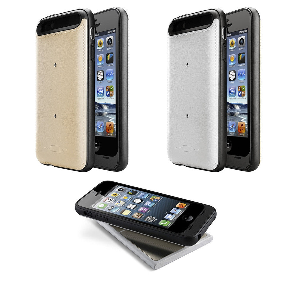 LizaTech MFI Apple iPhone 5/5S Certified 2200 mAh External Battery Case Charger With Wireless Charging!