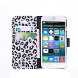 iPM Leopard Print Leather Wallet Storage & Protective Case For iPhone 6