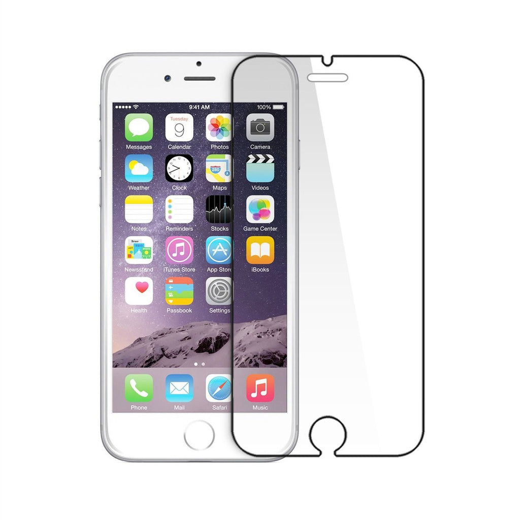 LizaTech iPhone 6 Tempered Glass 9H Hardness Screen Protector With Color Border
