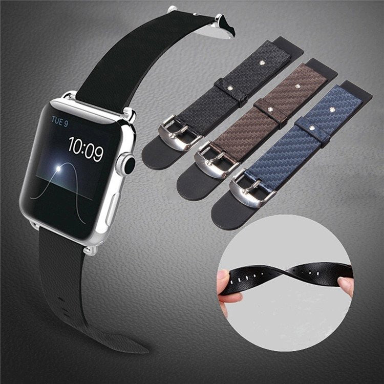 iPM Modern PU Leather Replacement Watch Band for Apple Watch