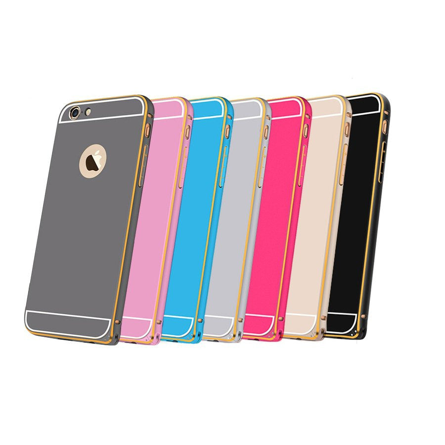 LizaTech Aluminum Metal Bumper Frame with Back Plate Cover Case for iPhone 6