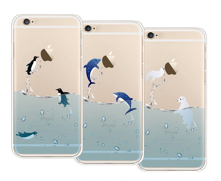 LizaTech Splish Splash Swimming Animals Flexible Case For iPhone 6/6+