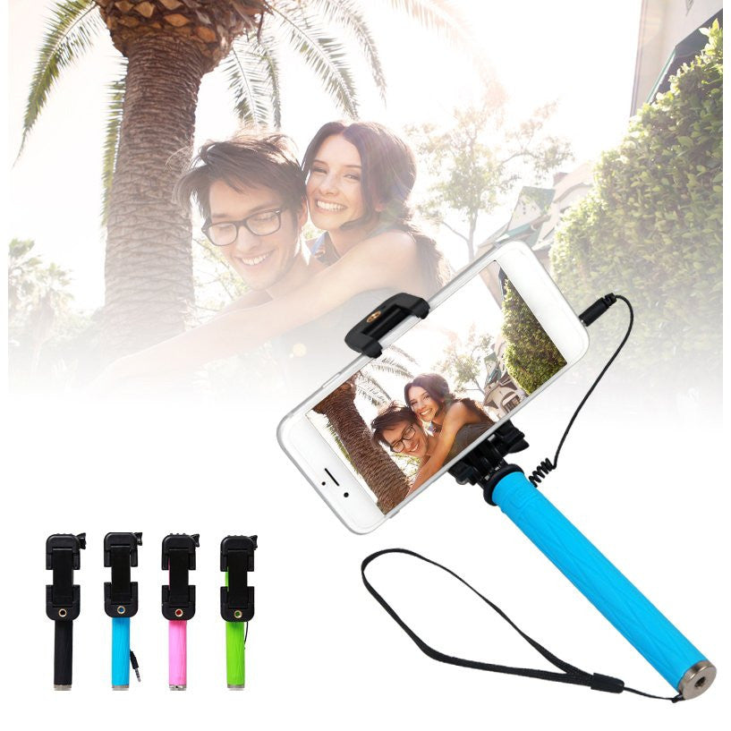 LizaTech Pen Size Mini Selfie Stick With Mirror