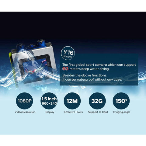 iPM Y16 1080p Multi Purpose Super Water Proof Multi Purpose Sports Action Camera