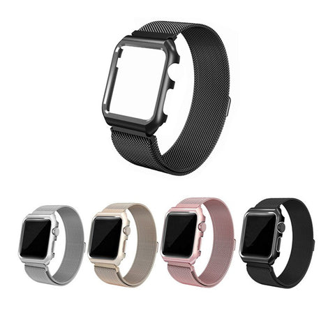 LizaTech Milanese Mesh Band with Protective Case for Apple Watch