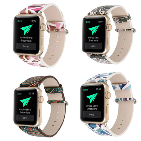LizaTech Vintage Leather Replacement Band for Apple Watch