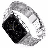 LizaTech Luxury Stainless Steel Link Band with Butterfly Closure for Apple Watch