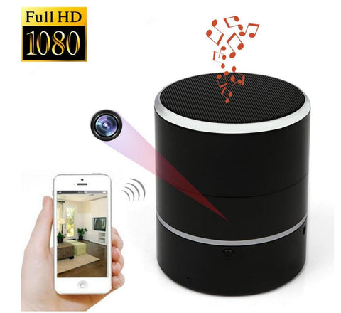 Amazing Bluetooth Speaker Spy Camera - Wireless Bluetooth Speaker Camera | Motion Detection | Hidden Camera | 1080p HD Resolution | Remote View With App