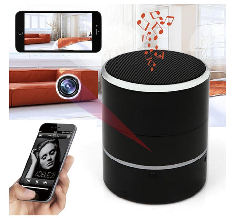 Amazing Bluetooth Speaker Spy Camera - Wireless Bluetooth Speaker Camera |  Motion Detection | Hidden Camera | 1080p HD Resolution | Remote View With