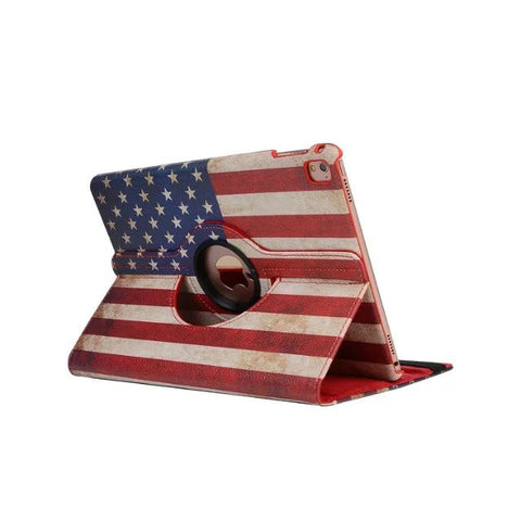 LizaTech 360-Degree Rotary Stand Leather Case for iPad
