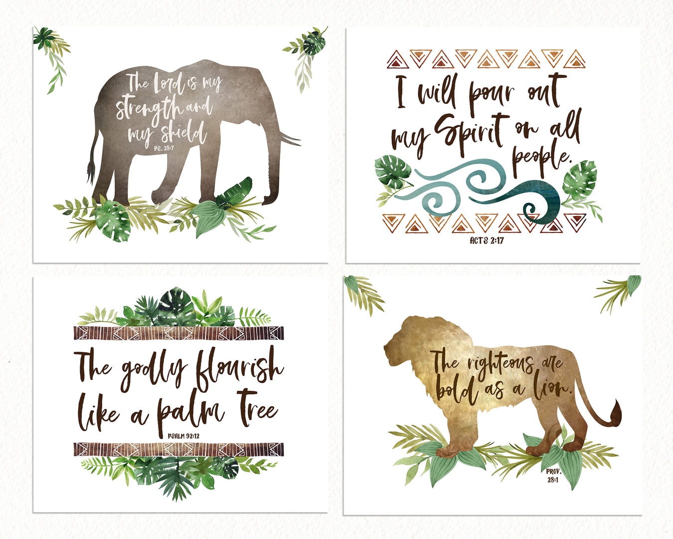Boys Jungle Nursery Prints
