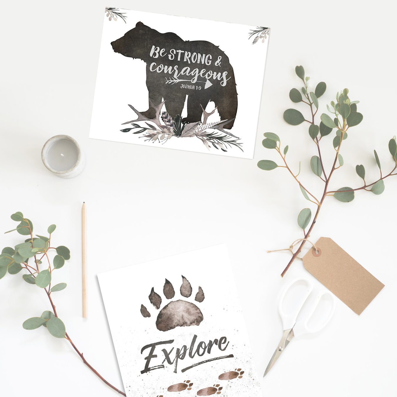 Boys Woodland Nursery Prints