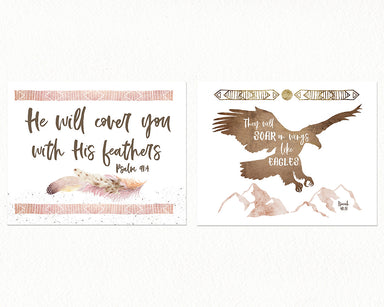 Girls Bohemian Desert Nursery Print Set of Two