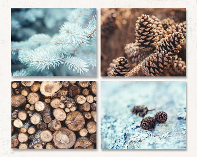 Alpine Frost Print Set of Four