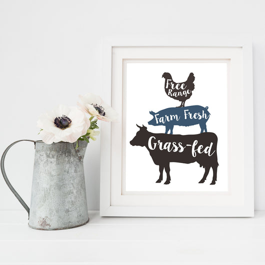 Animal Stack - Lettered Print