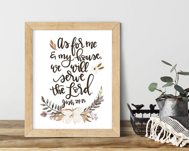 As for Me and My House - Handlettered Bible Verse Print