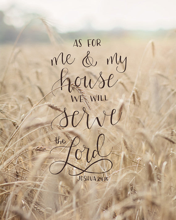 As for Me and My House - Scripture Wall Art