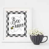 Bee Happy - Lettered Print
