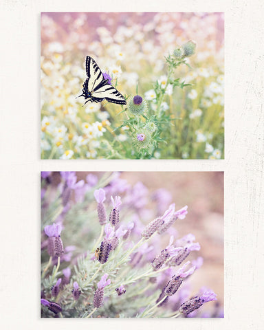 Bee and Butterfly Print Set of Two