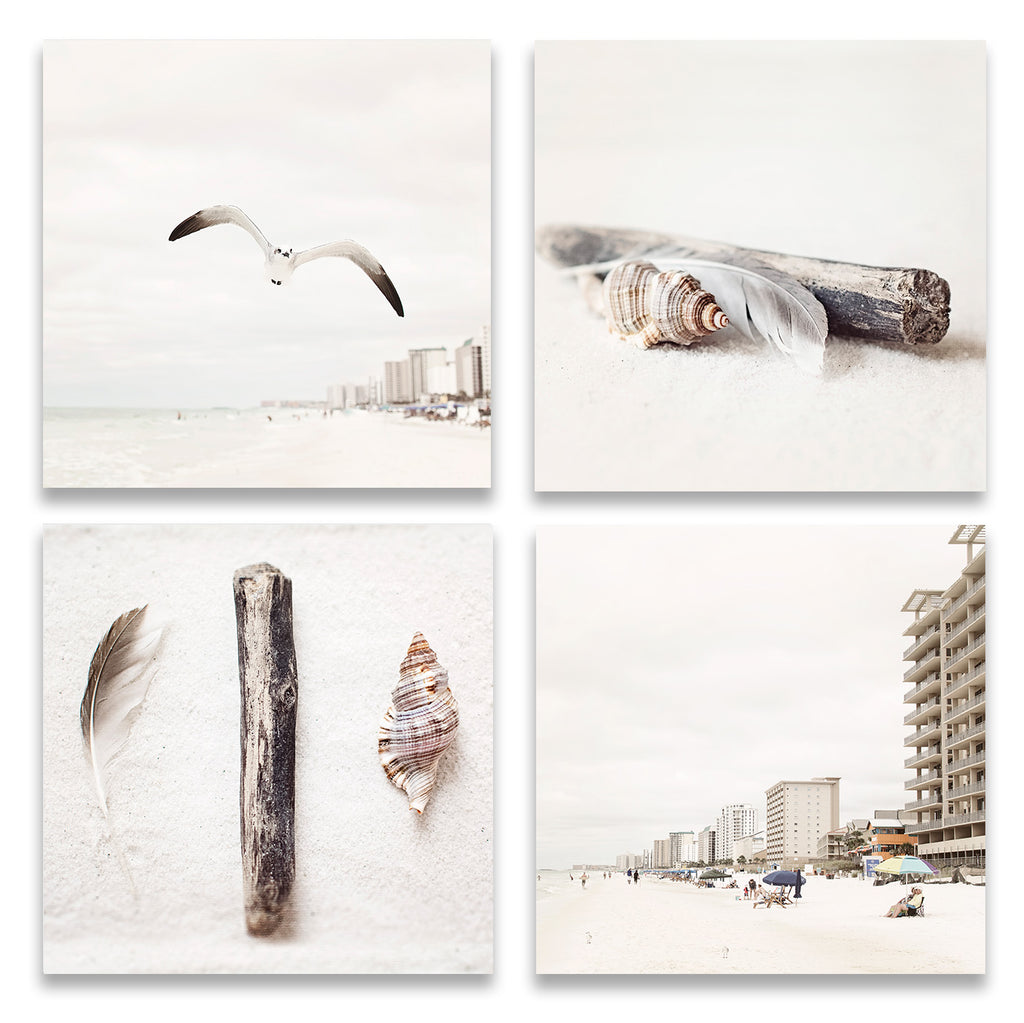 Beige Beach Set of Four Prints