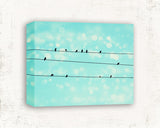 Birds on a Wire - Shabby Chic Nursery Wall Art